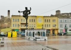 Świateczne życzenia i baner w Olsztynie