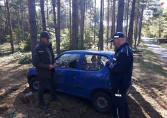 Policja i straż leśna przeciw motocyklom crossowym i quadom